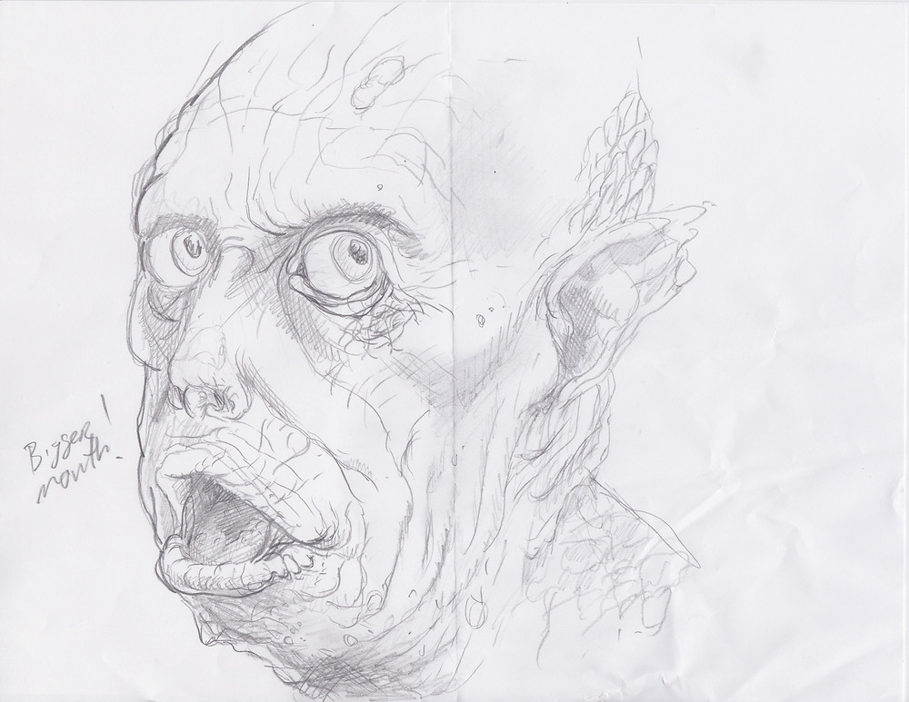 Innsmouth sketch by Mike Turner