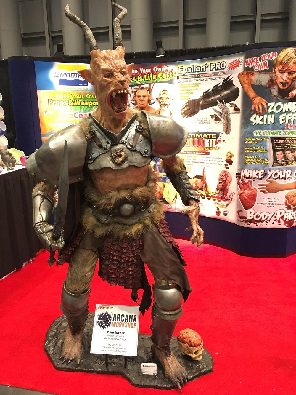 On display at the Smooth-On booth during NY Comic Con 2016.  Photo by Heather Hanna