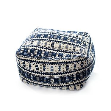 Puff individual padrão azul