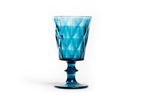 Copo Água Azul Facetado