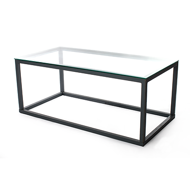 Mesa Baixa Ferro Tampo de vidro 2
