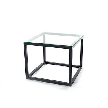 Mesa Baixa Ferro Tampo de vidro 3