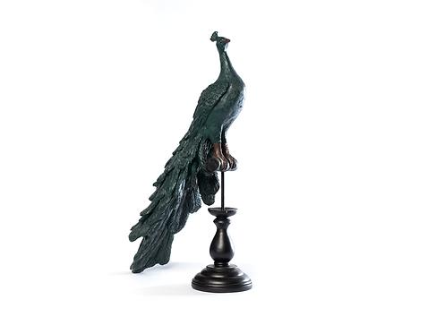 Pavão de cerâmica verde
