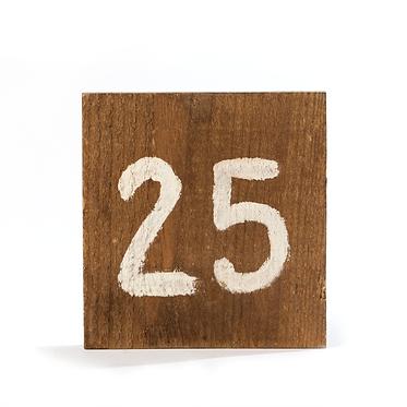 Números em Madeira para Marcação de Mesa
