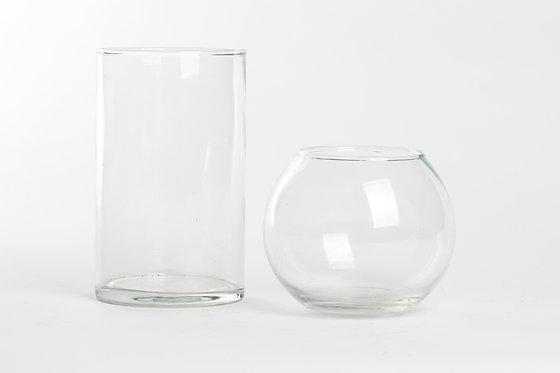 Aquário de cilindro de vidro