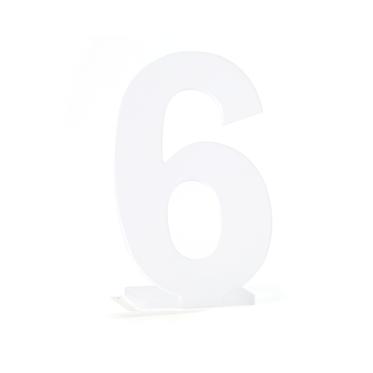 Números em Acrílico Fosco para Marcação de Mesa