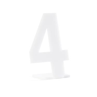 Número em Acrílico Branco para Marcação de Mesa