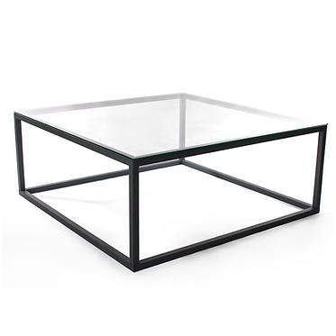 Mesa Baixa Ferro Tampo de vidro 1