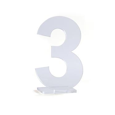 Números em Acrílico Transparente para Marcação de Mesa