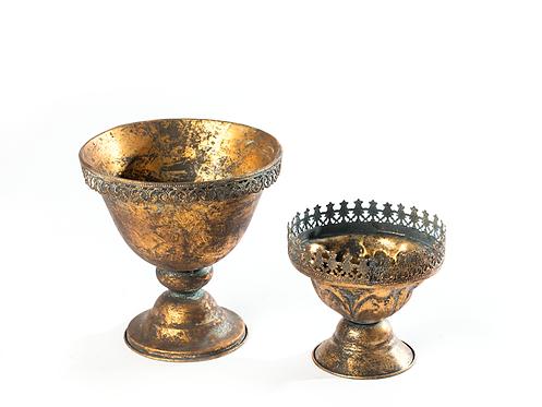Conjunto taças de dourados e cobres 1