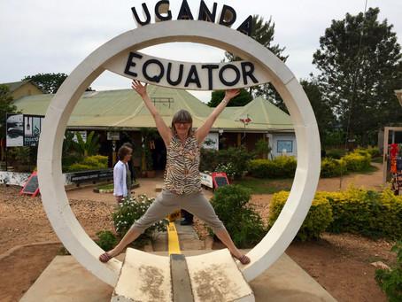 Med ett bein på hver side av Ekvator!