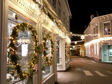 Kveldsvandring i julebyen Kragerø