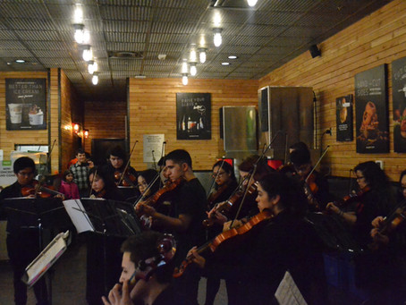 East High Orchestra at Burgerfi!  We had a  great time playing for the community!