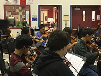 East High Orchestra students hard at work.