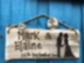 Bride & Groom personalied wedding sign