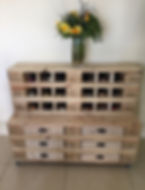 Pallet furniture wine rack
