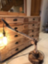 Handmade Driftwood filament lamp