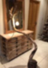 IMG_E3490.Handmade Driftwood filament lamp