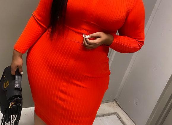 Red Premium stretch Bandage dress