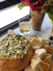 Artichoke and Spinache Dip with Four Che