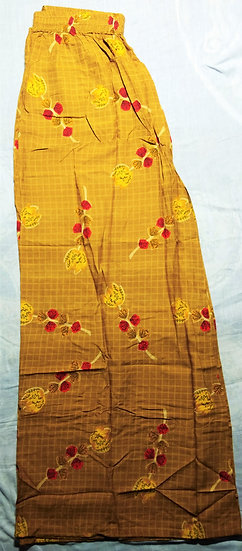 CLASSIC YELLOW BLOOMING PRINTED COTTON PLAZO