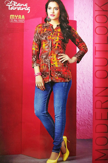 WOMEN'S COTTON DESIGNER SHIRT