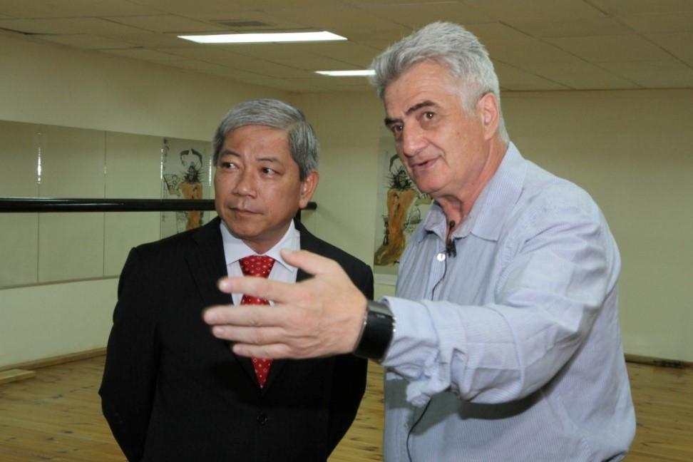 זקשנסקי עם שגריר ווייטנאם בישראל Mr. Cao Tran Quoc Hai