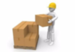 clipart man loading boxes