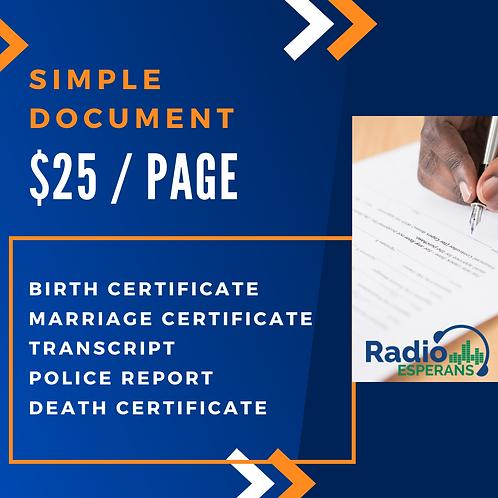 Simple Document