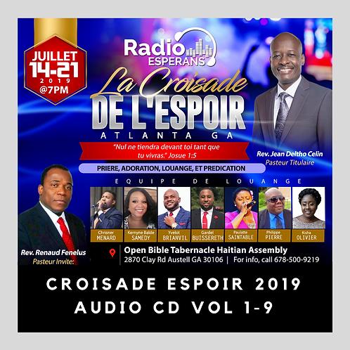 Croisade Espoir 2019- 9CDs