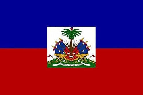 Big Haitian Flag 5x3ft