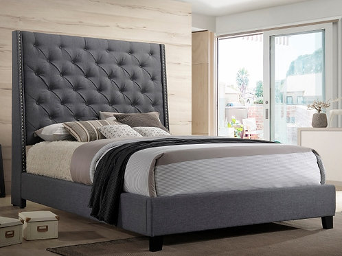 5265 GY CHANTILLY BED GREY QUEEN
