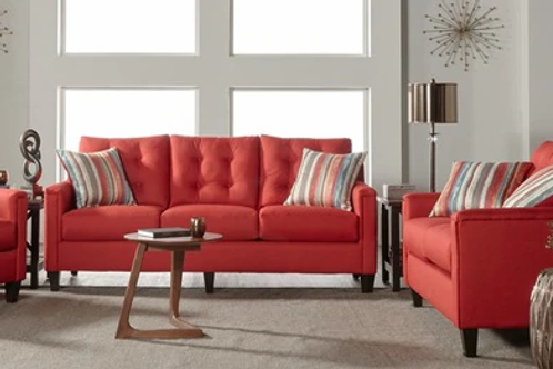 6800 SOFA AND LOVESEAT JITTERBUG RED