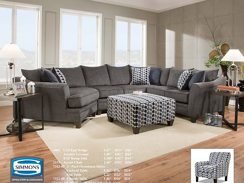 6485 Albany Slate or Chestnut Sectional