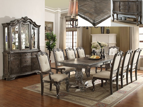 2151/2150-GY 5 PIECE KIERA DINING GROUP