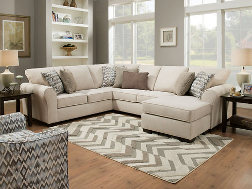 1657 Boston Linen Sectional with Reversible Chaise