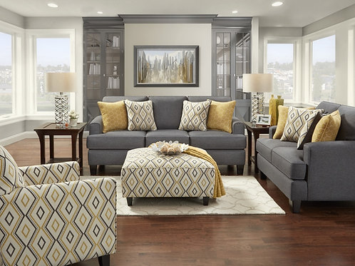 2600 SOFA AND LOVESEAT MAXWELL GRAY