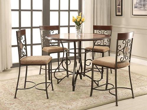 Sarah Counter Height 5 Piece Dinette Set
