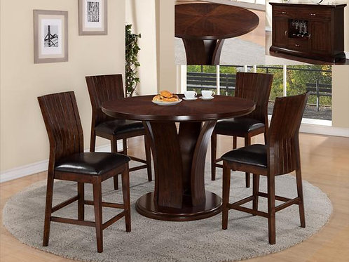 Daria Expresso or White 5 Piece Dinette Set