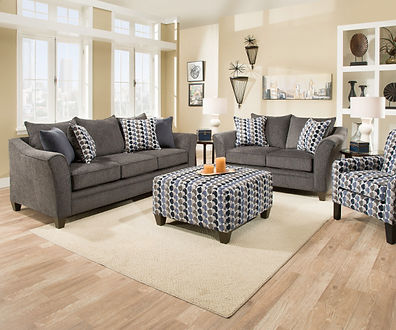 6485 Sofa and Loveseat Albany Slate or C