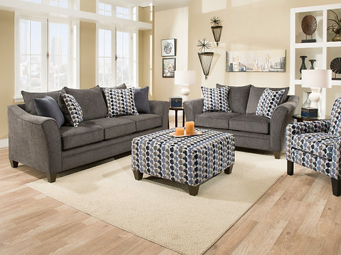 6485 Albany Slate or Chestnut Sofa and Loveseat