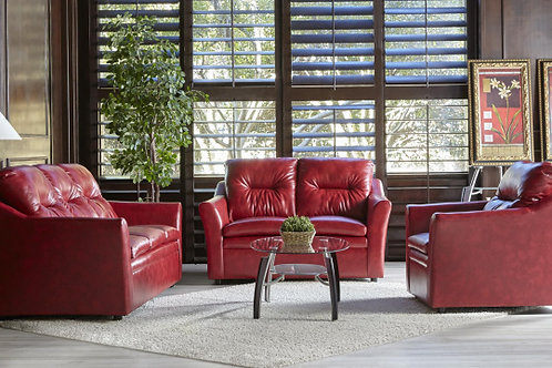 1953 Breathable Red or Black Sofa and Loveseat