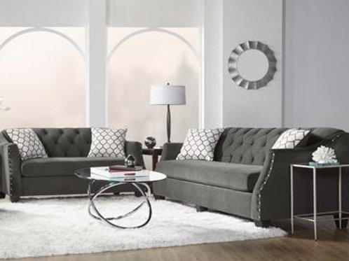 16150 Bing Ash Sofa and Loveseat