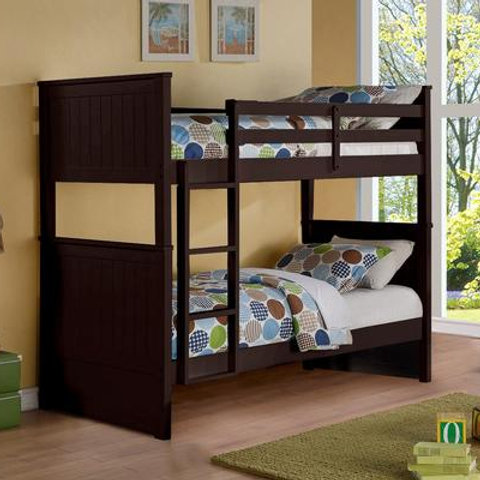 Twin Wooden Expresso Bunkbed