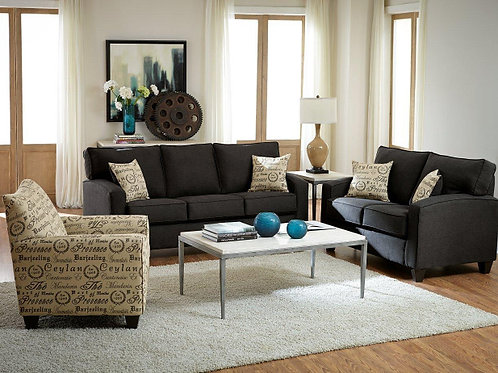 328 SOFA AND LOVE in BOOYAH PEPPER OR JITTERBUG TAUPE