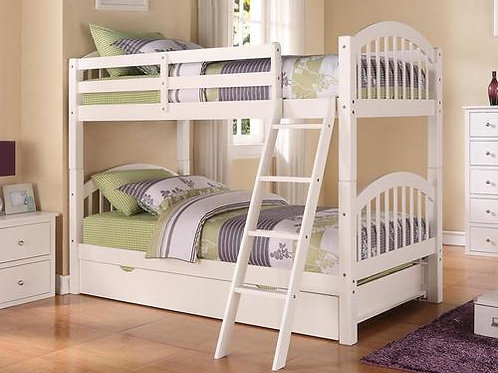 Twin White Stackable Bunkbed