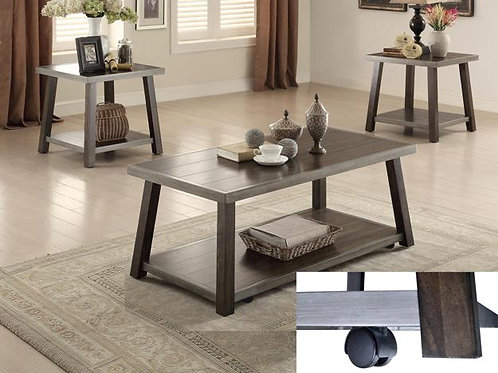 Miles 3 Piece Cocktail Table Set with Caster