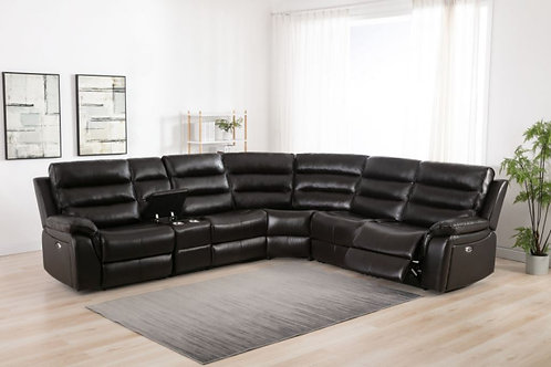 6450 POWER MOTION SECTIONAL - 2 POWER RECLINERS, 1 MANUAL, BELAIRE CHARCOAL