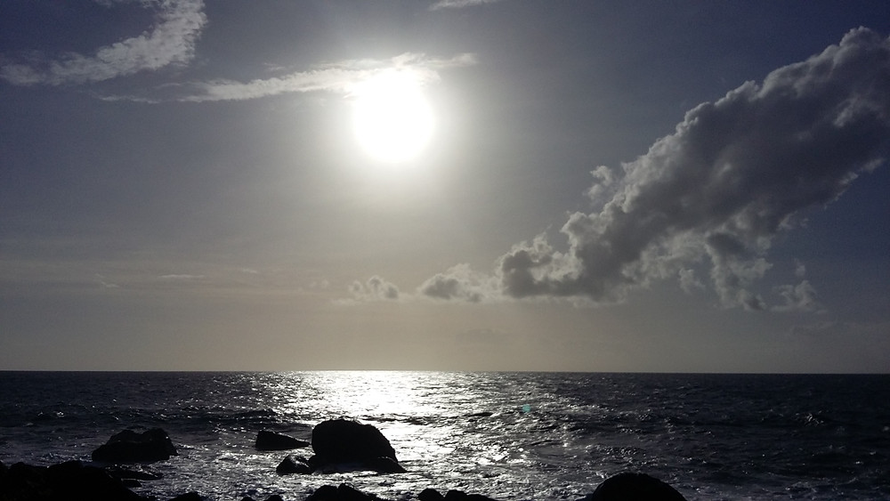 Sonnenuntergang vom Leuchtturm aus gesehen