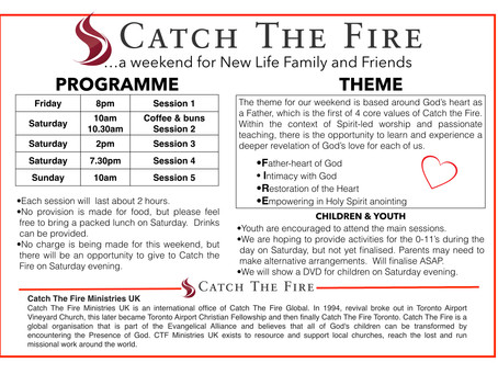 Catch the Fire Visit